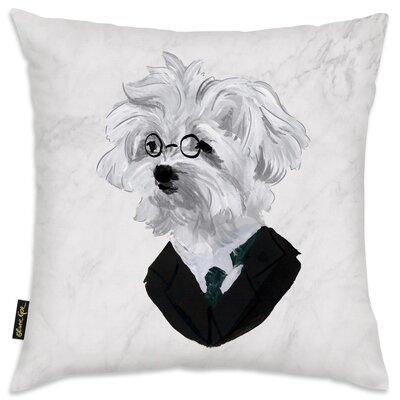 Faria Businessman Pup Throw Pillow