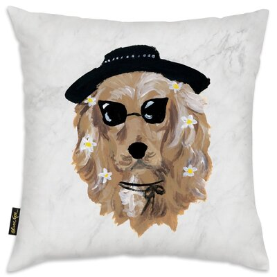 Drumnasmear Flower Puppy Throw Pillow