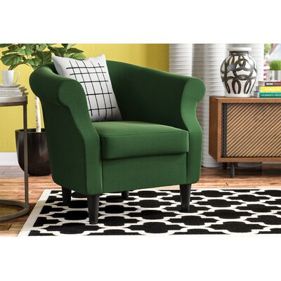 Marsdeni Barrel Chair Upholstery: Emerald Green