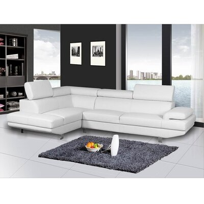Helsel Excel Sectional Upholstery: White, Orientation: Left Hand Facing