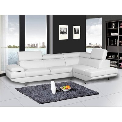 Helsel Excel Sectional Upholstery: White, Orientation: Right Hand Facing