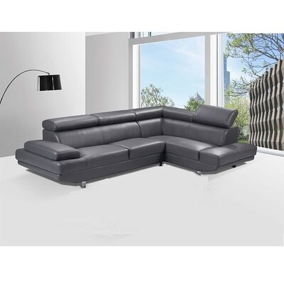 Helsel Excel Sectional Upholstery: Gray, Orientation: Right Hand Facing