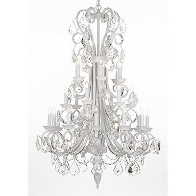 Gisele Wrought Iron 24-Light Candle-Style Chandelier