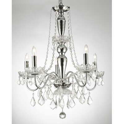 Croy Trimmed 5-Light Candle-Style Chandelier