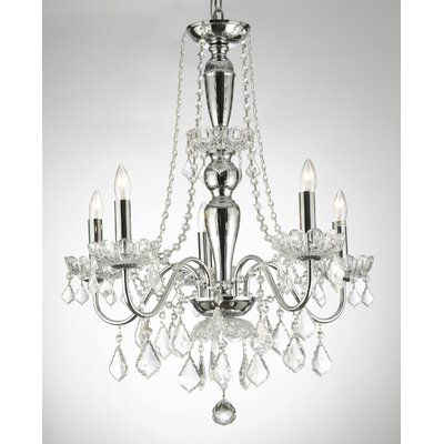 Holton Elegant 5-Light Candle-Style Chandelier
