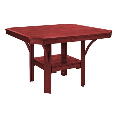 Longfellow Dining Table Color: Burgundy