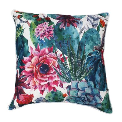 Cassady Succulent Throw Pillow