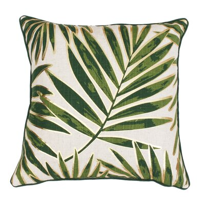 Ginsberg Foil Printed Leaf Throw Pillow Color: Green