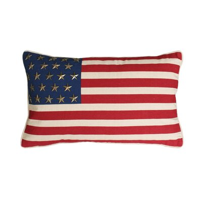 Church American Flag with Studs Throw Pillow