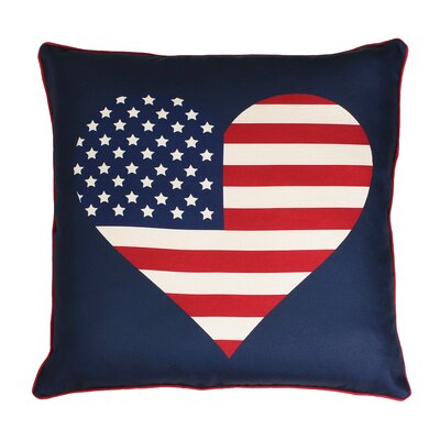 Chow Heart Flag Reversible Plaid Printed Throw Pillow