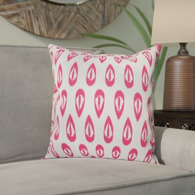 Bridgehampton Outdoor Throw Pillow Size: 18 H x 18 W, Color: Pink