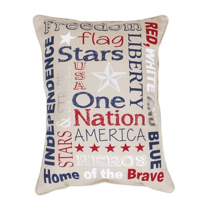 Bottomley Patriotic Typography Throw Pillow