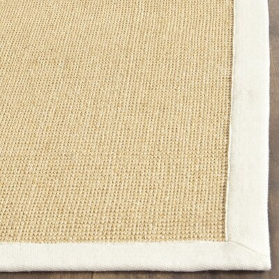 Boxrah Beige Area Rug Rug Size: Runner 26 x 6