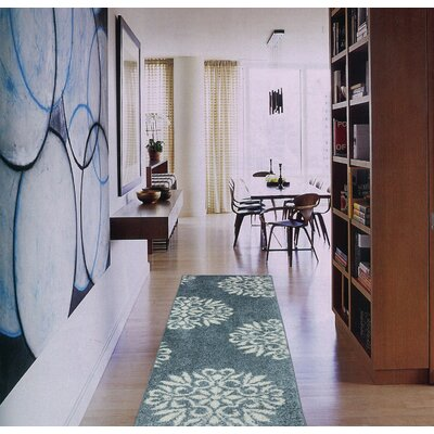 Exploded Medallions Blue Area Rug
