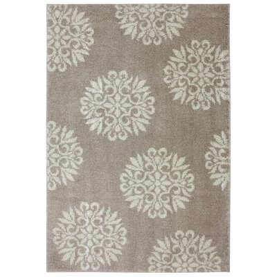 Exploded Medallions Sandstone Area Rug Rug Size: Rectangle 34 x 56