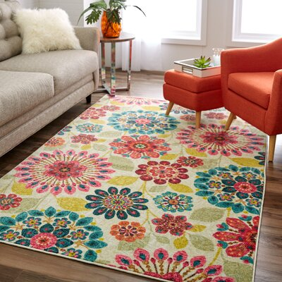 Venson Blue/Pink Area Rug Rug Size: Rectangle 10 x 14