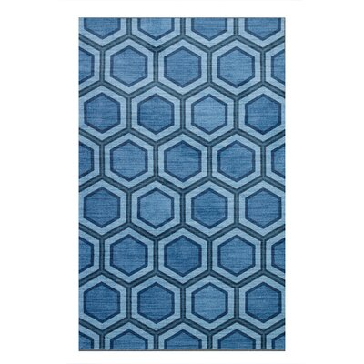 Honeycomb Blue Area Rug Rug Size: Rectangle 5 x 8
