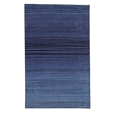 Amblewood Horizon Line Navy Area Rug Rug Size: Rectangle 10 x 14