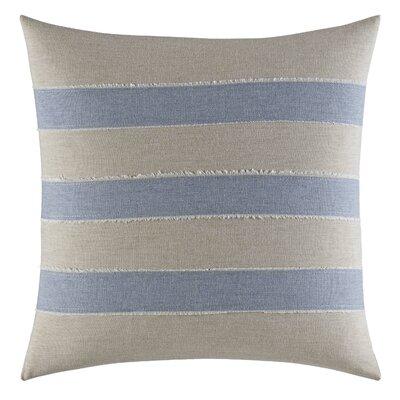 Abbot Heathered Applique Cotton Throw Pillow