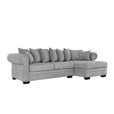 Weldy Modern Sectional Upholstery: Light Gray