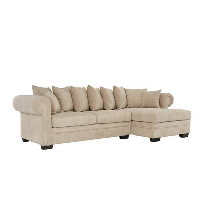 Weldy Modern Sectional Upholstery: Beige
