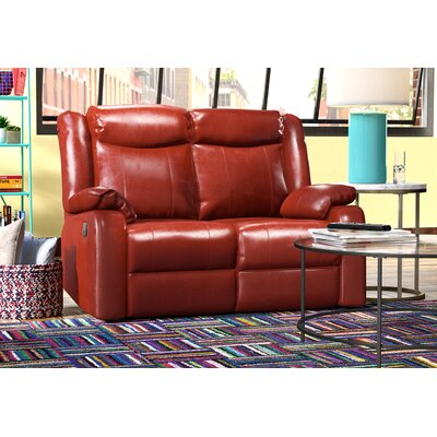 Roudebush Double Reclining Loveseat Upholstery: Red