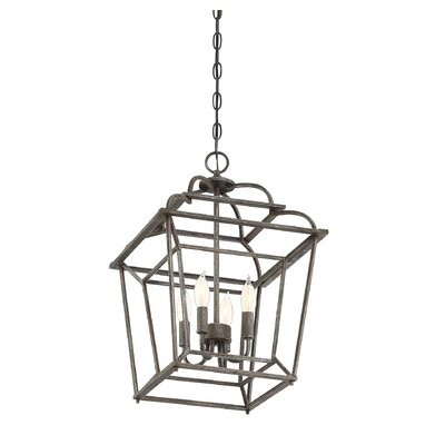 Crompton 4-Light Foyer Pendant Size: 20.25 H x 14 W x 14 D