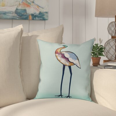 Boubacar Bird Animal Print Throw Pillow Size: 26 H x 26 W, Color: Aqua