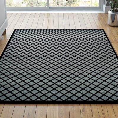 Cindi Gray/Black Area Rug Rug Size: 4 x 6