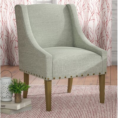 Londonshire Solid Swoop Armchair Upholstery: Vapor Teal