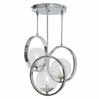 Bergues 3-Light Cluster Pendant Finish: Chrome