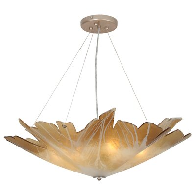 Berkeley Leaf 5-Light Bowl Pendant