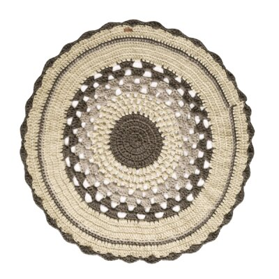 One-of-a-Kind Deerfin Hand-Woven Cotton Beige/Brown Area Rug