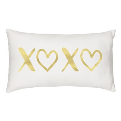 Keeley XOXO Cotton Throw Pillow