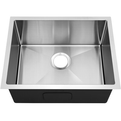Single Bowl 25 x 18 Undermount Kitchen Sink