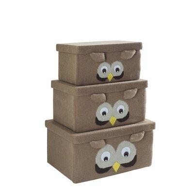 Owl Fabric 3 Piece Box Set