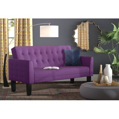 Greg Tufted Sleeper Sofa Upholstery: Lavender