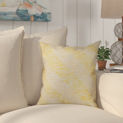 Cedarville Marled Knit Stripe Geometric Print Throw Pillow Size: 16 H x 16 W, Color: Yellow