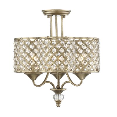 Sueann 3-Light Semi Flush Mount