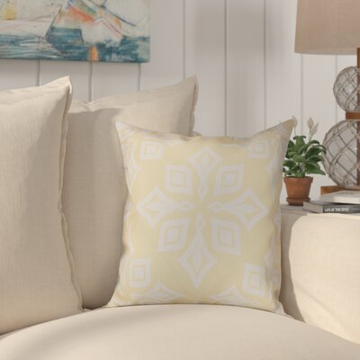 Cedarville Star Geometric Print Outdoor Throw Pillow Size: 18 H x 18 W, Color: Yellow