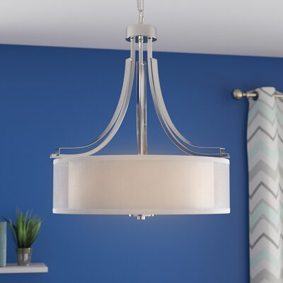 Nettie 3-Light Drum Chandelier Finish: Satin Nickel