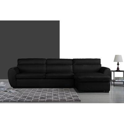 Ingham Modern Sectional Upholstery: Black