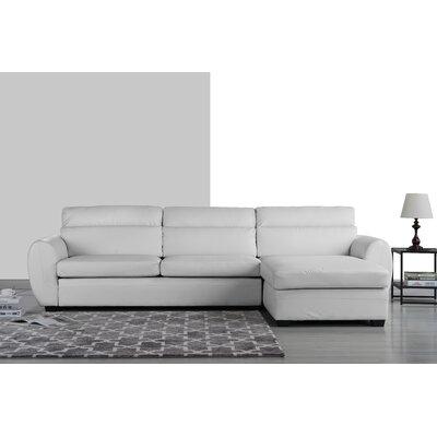 Ingham Modern Sectional Upholstery: White