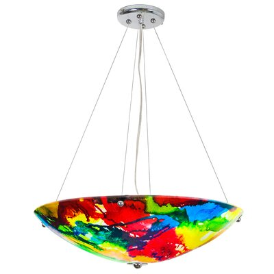 Carncastle 4-Light Bowl Pendant Finish: Chrome