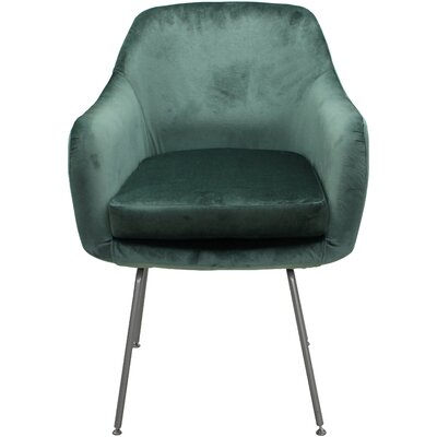 Arredondo Upholstered Dining Chair Upholstery Color: Seafoam, Leg Color: Silver