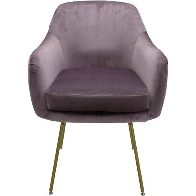 Arredondo Upholstered Dining Chair Upholstery Color: Purple, Leg Color: Gold