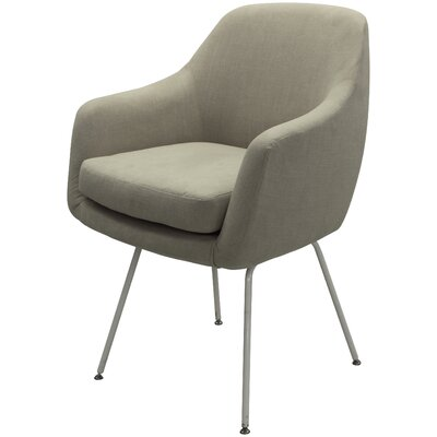Arredondo Upholstered Dining Chair Upholstery Color: Beige, Leg Color: White