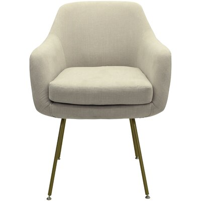 Arredondo Upholstered Dining Chair Upholstery Color: Beige, Leg Color: Gold