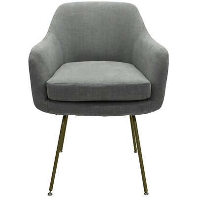 Arredondo Upholstered Dining Chair Upholstery Color: Gray, Leg Color: Gold