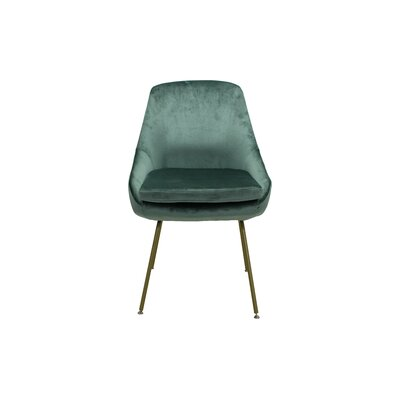 Arreguin Upholstered Dining Chair Upholstery Color: Seafoam, Leg Color: Gold